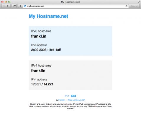 MyHostname.net v5